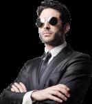 Скачать PNG картинку на прозрачном фоне Мужчина с черном костюме и черных очках