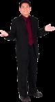 Скачать PNG картинку на прозрачном фоне Мужчина, в костюме, разводит руками