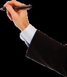 Скачать PNG картинку на прозрачном фоне Мужская рука, держит черную авторучку