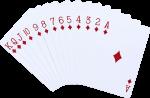 Скачать PNG картинку на прозрачном фоне Набор игральных карт, бубна