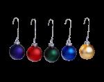 Скачать PNG картинку на прозрачном фоне Набор разноцветных елочных шаров