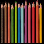 Скачать PNG картинку на прозрачном фоне Набор, заточенных карандашей, вид сверху