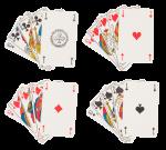 Скачать PNG картинку на прозрачном фоне Наборы флеш рояль, пика, трефа,черви, бубна, игральные карты