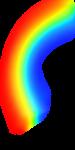 Скачать PNG картинку на прозрачном фоне Нарисованная часть радуги, размытая
