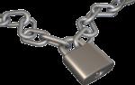 Скачать PNG картинку на прозрачном фоне Нарисованная цепь с замком