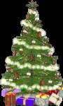 Скачать PNG картинку на прозрачном фоне нарисованная елка с подарками