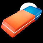 Скачать PNG картинку на прозрачном фоне Нарисованная красно-синяя стерка, вид сбоку