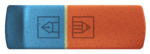Скачать PNG картинку на прозрачном фоне Нарисованная красно-синяя стерка, вид сверху