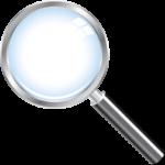 Скачать PNG картинку на прозрачном фоне Нарисованная лупа с серебристой ручной