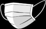 Скачать PNG картинку на прозрачном фоне Нарисованная медицинская маска