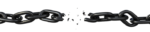 Скачать PNG картинку на прозрачном фоне Нарисованная порванная железная цепь, с осколками