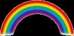 Скачать PNG картинку на прозрачном фоне Нарисованная радуга