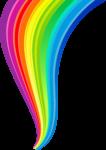 Скачать PNG картинку на прозрачном фоне Нарисованная радуга от большей части к меньшей