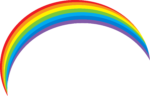 Скачать PNG картинку на прозрачном фоне Нарисованная радуга с острыми краями