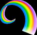 Скачать PNG картинку на прозрачном фоне Нарисованная радуга с завиточком