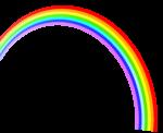 Скачать PNG картинку на прозрачном фоне Нарисованная радуга уходит вверх