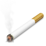 Скачать PNG картинку на прозрачном фоне Нарисованная сигарета, прикурена
