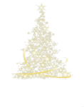 Скачать PNG картинку на прозрачном фоне нарисованная,блестящая елка