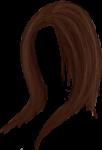 Скачать PNG картинку на прозрачном фоне Нарисованные каштановые женские волосы