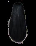 Скачать PNG картинку на прозрачном фоне Нарисованные прямые женские волосы, брюнетка