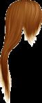 Скачать PNG картинку на прозрачном фоне Нарисованные рыжие длинные волосы, вид сбоку