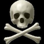 Скачать PNG картинку на прозрачном фоне Нарисованный череп с двумя костями