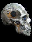 Скачать PNG картинку на прозрачном фоне Нарисованный череп в стиле кибер