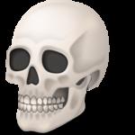 Скачать PNG картинку на прозрачном фоне Нарисованный, череп, вид спереди