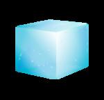 Скачать PNG картинку на прозрачном фоне Нарисованный кубик льда, голубого цвета