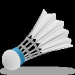 Скачать PNG картинку на прозрачном фоне Нарисованный воланчик для бадминтона, перьевой с голубой каймой