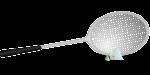 Скачать PNG картинку на прозрачном фоне Нарисованный воланчик для бадминтона с рокеткой