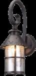 Скачать PNG картинку на прозрачном фоне Настенный уличный светильник, плафоном в низ