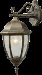 Скачать PNG картинку на прозрачном фоне Настенный уличный светильник, плафоном в низ, с ковкой