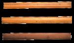 Скачать PNG картинку на прозрачном фоне Необычные деревянные линейки