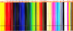 Скачать PNG картинку на прозрачном фоне Очень большой набор карандашей разных цветов