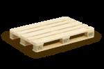 Скачать PNG картинку на прозрачном фоне Один деревянный поддон(палета)