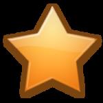 Скачать PNG картинку на прозрачном фоне Оранжевая пятиконечная звездочка