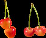 Скачать PNG картинку на прозрачном фоне Оранжевые ягоды черешни на веточках