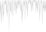 Скачать PNG картинку на прозрачном фоне Острые литые сосульки