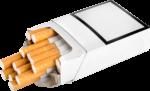 Скачать PNG картинку на прозрачном фоне Пачка сигарет торчит из пачки