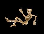 Скачать PNG картинку на прозрачном фоне Падающий скелет, нарисованный