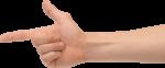 Скачать PNG картинку на прозрачном фоне Пистолет, жест рукой