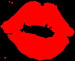 Скачать PNG картинку на прозрачном фоне Поцелуй губной помадой