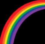 Скачать PNG картинку на прозрачном фоне Половина нарисованной радуги