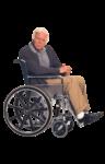 Скачать PNG картинку на прозрачном фоне Пожилой мужчина в кресле каталке