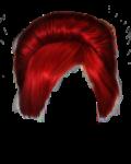 Скачать PNG картинку на прозрачном фоне Прическа женская, цвета рубин