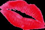 Скачать PNG картинку на прозрачном фоне Простой след поцелуя помадой