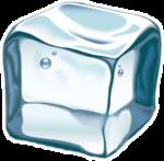 Скачать PNG картинку на прозрачном фоне Прозрачный кубик льда