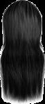 Скачать PNG картинку на прозрачном фоне Прямые женские волосы, брюнетка
