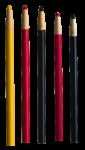 Скачать PNG картинку на прозрачном фоне Пять карандашей разноцветных, вид сверху